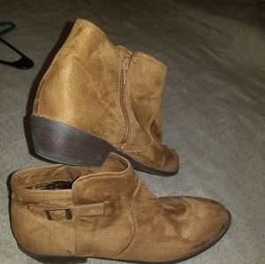 Cato Faux Suede Booties